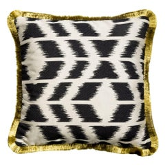 Cipriano Zebra Black and White Ikat Style Cushion Pillow