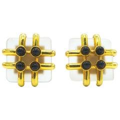 Cipullo Cartier 18 Karat Rock Crystal Earrings