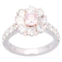 Cirari 0.55 Carat GIA Certified Pink Diamond 18 Karat Two-Tone Gold Ring