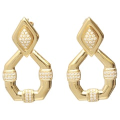 0.61 Carat Diamond 18 Karat Yellow Gold Earring
