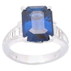Cirari 10.51 Carat GIA Certified Blue Sapphire and Diamond 18 Karat Gold Ring