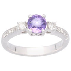 Cirari 1.12 Carat Purple Sapphire Platinum Engagement Ring