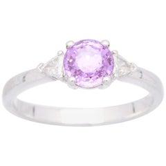 Cirari 1.17 Carat Purple Sapphire Platinum Engagement Ring