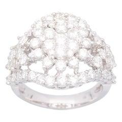 Cirari  2/13 Carat Round Diamond 18 Karat White Gold Engagement Ring