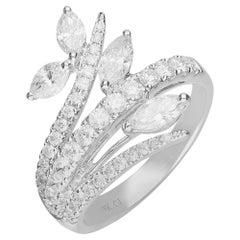 2/5 Carat Marquise Diamond 18 Karat White Gold Ring