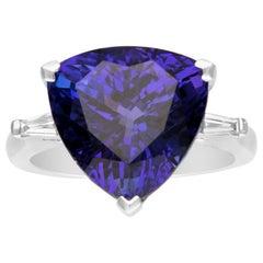 Cirari GAL Certified 13.26 Carat Tanzanite and Diamond 18 Karat White Gold Ring