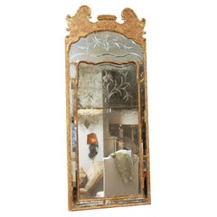 Circa 1760 Carved and Gilded Swedish Mirror