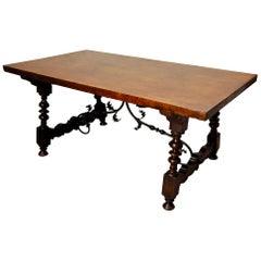 Spanish Walnut Table, circa 1800