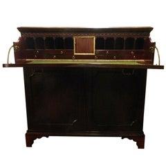 Circa 1825 English Mahogany Butlers Desk
