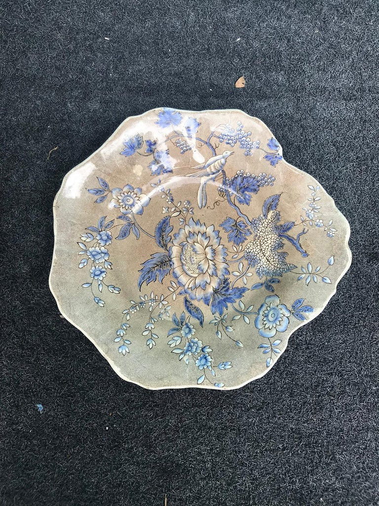 19th Century English Spode Copeland & Garrett Plate, Marked, Rare Pattern, circa 1830s