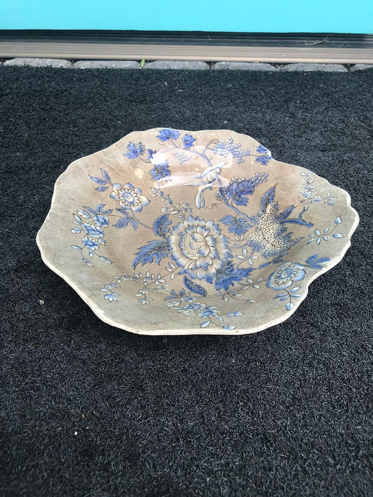 English Spode Copeland & Garrett Plate, Marked, Rare Pattern, circa 1830s 4