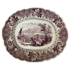 English Staffordshire Transferware Charger by Thomas Mayer Longport, circa 1830s