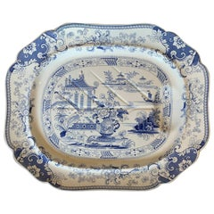 Staffordshire Charger in Penang Pattern by John Ridgway & Co, Marked, circa 1835