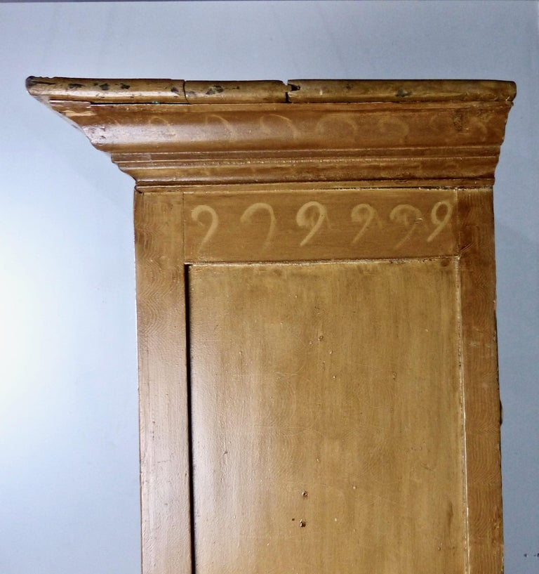 Mid-19th Century Painted Quebec Pine Canadian Armoire Cabinet, circa 1850