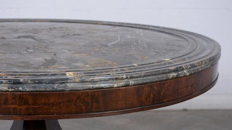 French Empire Style Center Table, circa 1850s In Good Condition For Sale In Los Angeles, CA