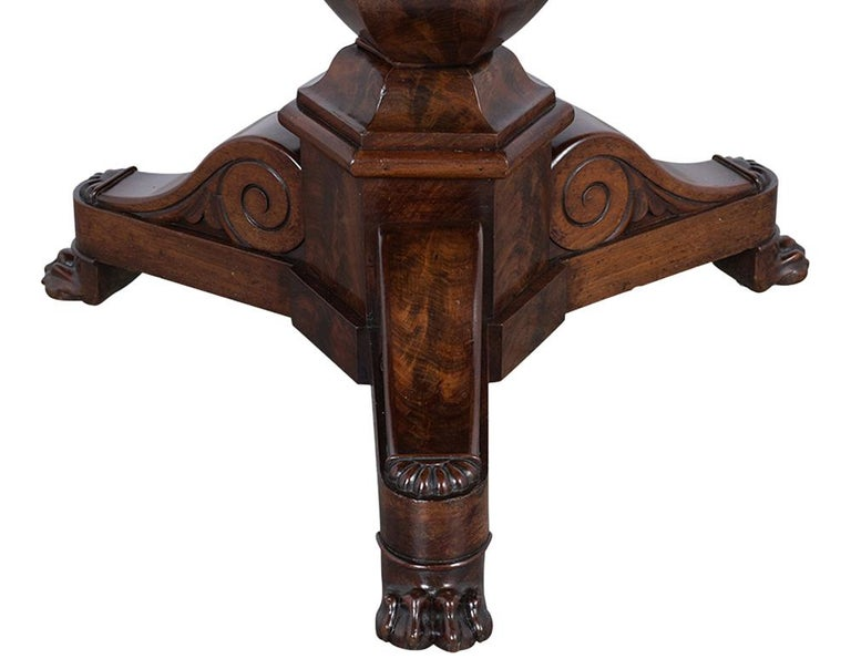 Marble French Empire Style Center Table, circa 1850s For Sale