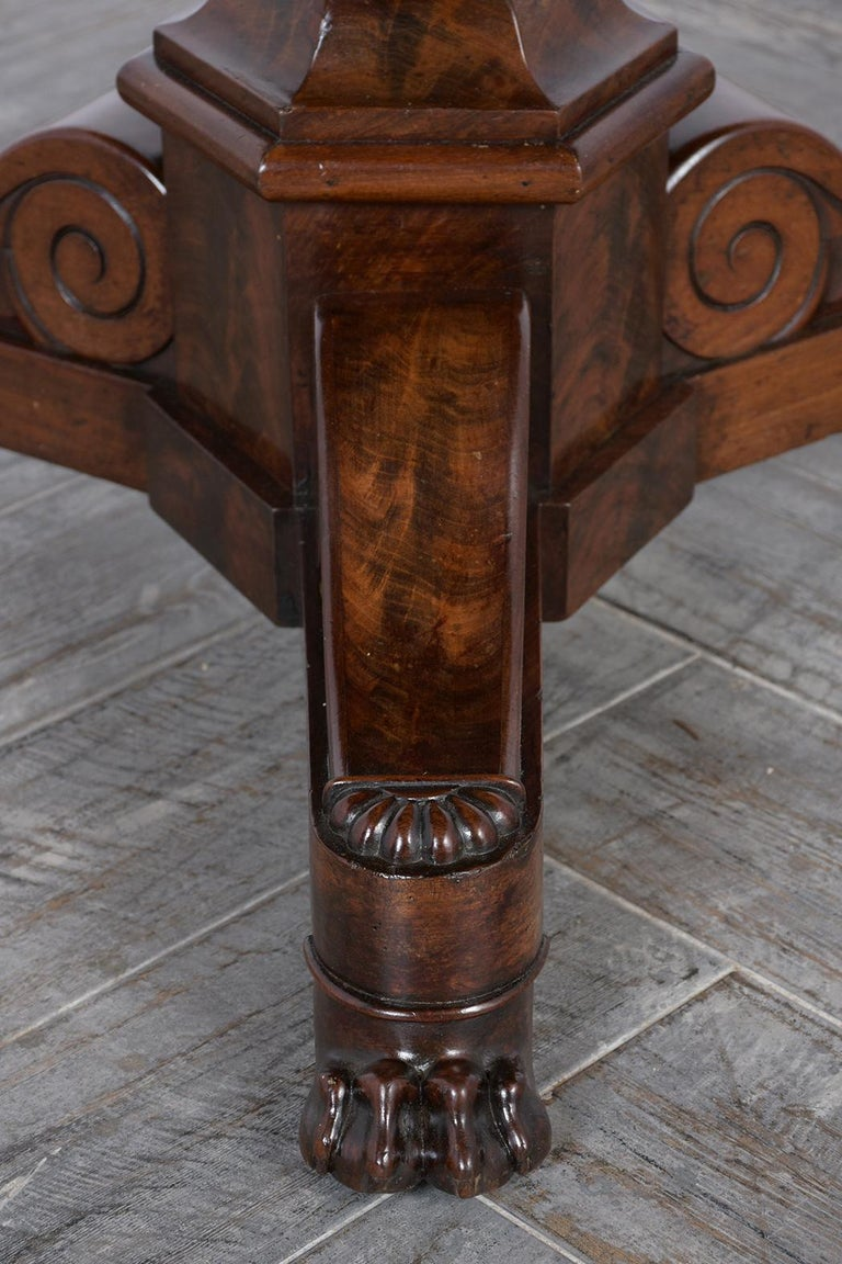 French Empire Style Center Table, circa 1850s For Sale 1