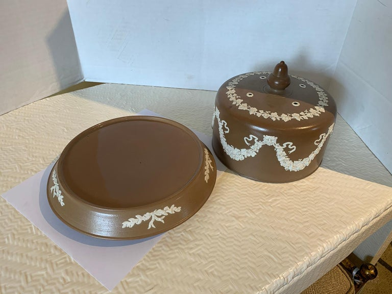 English Jasperware Cheese Dome by Dudson Stilton, Style of Wedgwood, circa 1860 For Sale 5