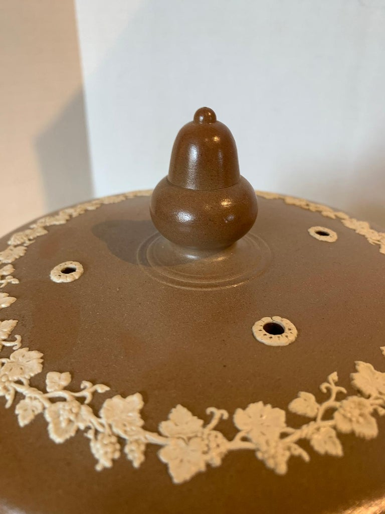 Ceramic English Jasperware Cheese Dome by Dudson Stilton, Style of Wedgwood, circa 1860 For Sale