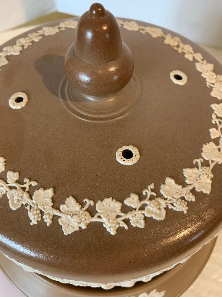English Jasperware Cheese Dome by Dudson Stilton, Style of Wedgwood, circa 1860 For Sale 1