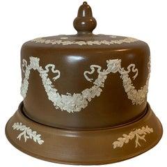 English Jasperware Cheese Dome by Dudson Stilton, Style of Wedgwood, circa 1860