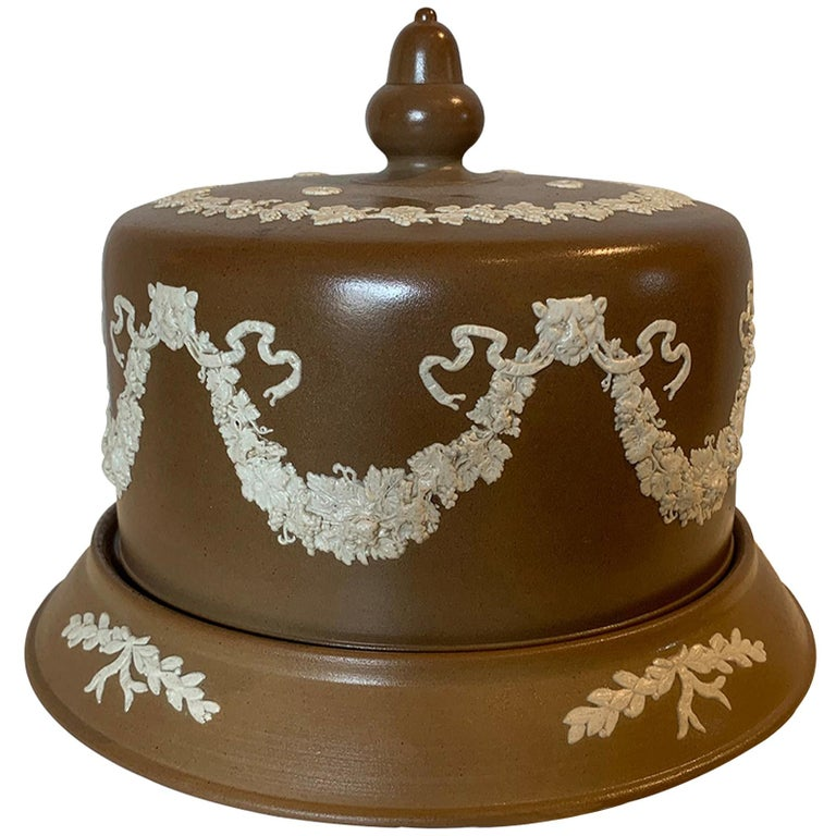 English Jasperware Cheese Dome by Dudson Stilton, Style of Wedgwood, circa 1860 For Sale