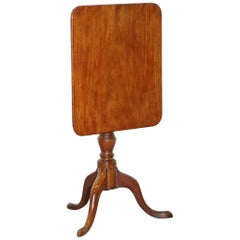 Victorian Tripod Side End Lamp Table in Walnut with Tilt Top Function circa 1860