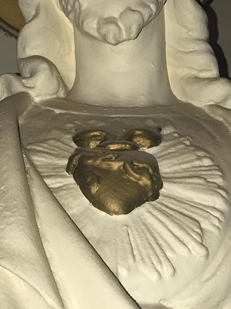 Belgian Carved Stone Baroque Revival Statue of Jesus, circa 1870 For Sale 4