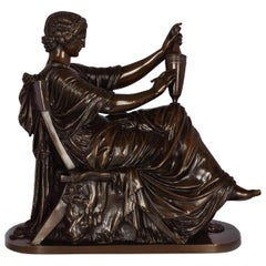 "Circa 1870 ""Etruscan Art"" Bronze Sculpture by Victor Simyan (French, 1826-86)"