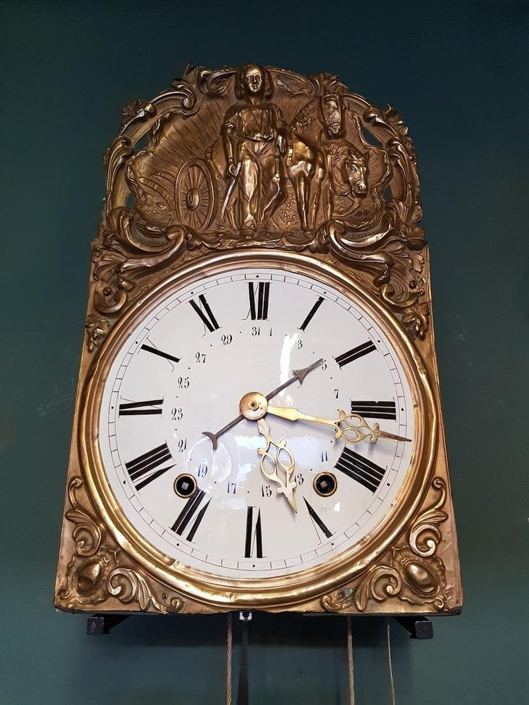 French Comtoise with Banjo Pendulum and 8 Day Timepiece, circa 1870 In Good Condition For Sale In Raalte, NL
