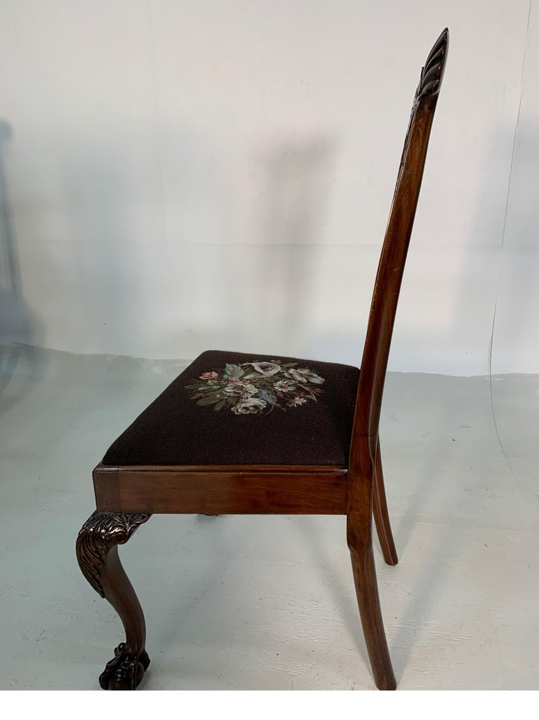 Set of Ten Beautifully Hand Carved Mahogany Chippendale Style Chairs, circa 1870 For Sale 7