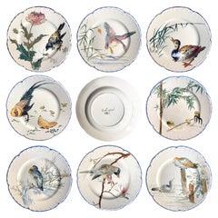 """""""Escalier De Cristal"""" Choisy-Le-Roi Earthenware Dessert Plates, circa 1878"""