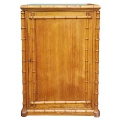 Circa 1880-1900 French Bamboo Style One Door Cabinet