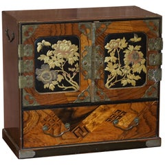 Chinese Calamanda Speciamine Wood Collectors Chest of Drawers Chest, circa 1880