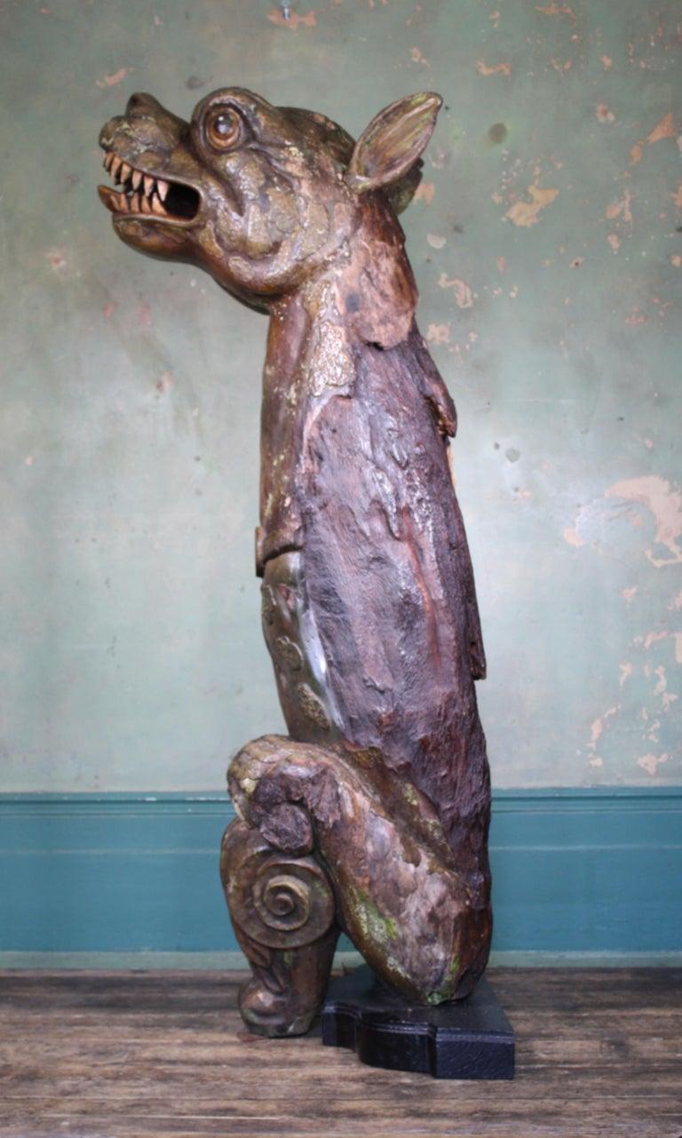 Circa 1880 Large Carved Oak Dragon Figurehead Gentleman's Yacht Maritime  For Sale 6