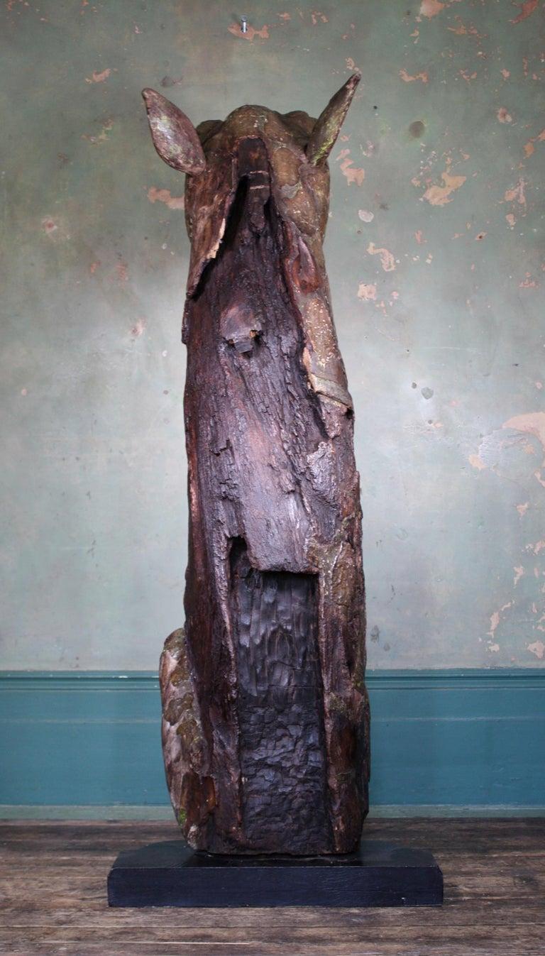 Circa 1880 Large Carved Oak Dragon Figurehead Gentleman's Yacht Maritime  For Sale 7