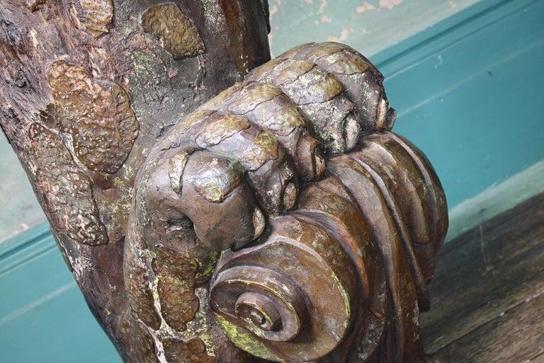 Circa 1880 Large Carved Oak Dragon Figurehead Gentleman's Yacht Maritime  For Sale 2