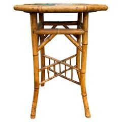 Circa 1880 Octagonal Bamboo Side Table