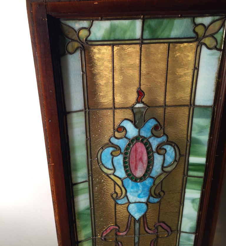 American Stained Glass Window, circa 1880 For Sale