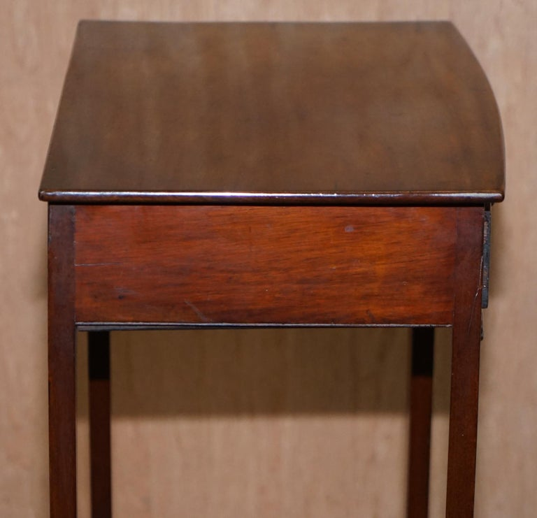 Victorian Mahogany Single Drawer Side End Lamp Wine Occasional Table, circa 1880 For Sale 2