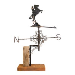 Circa 1880s Rearing Horse Weather Vane