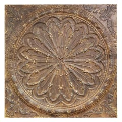 Monumental Architectural Ceiling Tile, Provenance a Philly Library, circa 1890