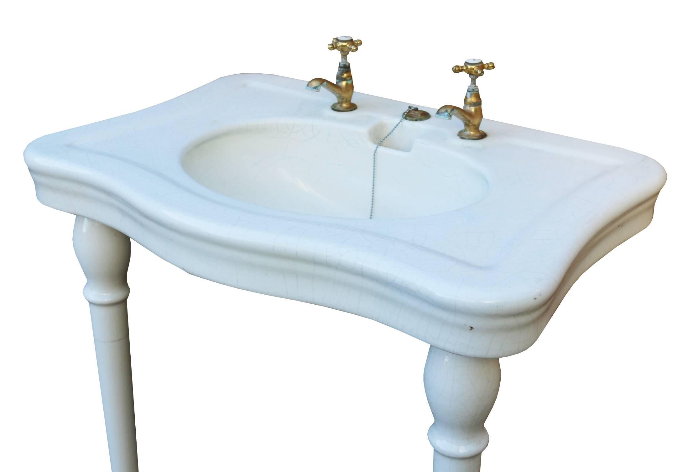 Jacob Delafon\' Antique French Basin/ Sink, circa 1900 For Sale at ...