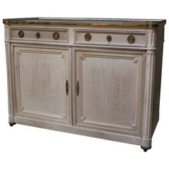 French Bleached Buffet, circa 1900s-1920s