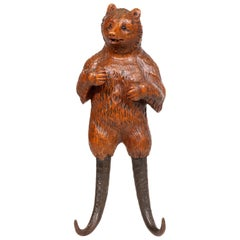 Black Forest Carved Leash Holder/Hook, circa 1900