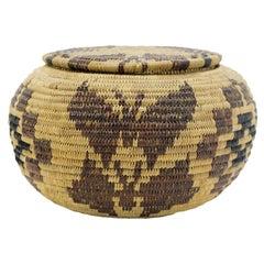 Circa 1900 Miwok Globular Basket