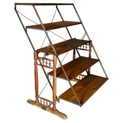 Multi-Position Folding Shelf/Table by The Combination Table Co., circa 1900