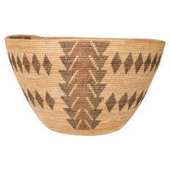 Circa 1900 Native American Yokut Polychrome Basket