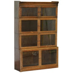 Oak Modular Minty Oxford Antique Stacking Legal Bookcase Part Suite, circa 1900