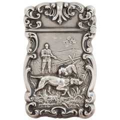 Circa 1900 Sterling Silver Sporting Match Safe